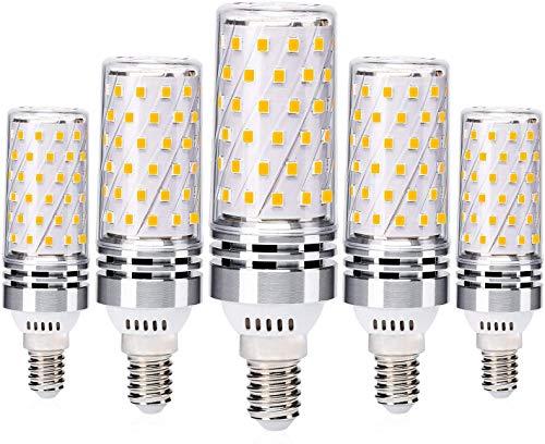 Eco.Luma E14 LED Lampen 8W Mais Birne Warmweiß 2700K, Ersetzt 60W 70W 80W Halogenlampe, Kein Flackern E14 LED Glühbirnen, Nicht Dimmbar LED E14 Maiskolben Birnen, AC 220-240V, 5er Pack