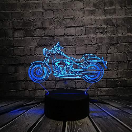 suhang Retro LED bureaulamp voor motorfiets ter verlichting 's nachts illusie bureaulamp verlichting voor sfeer meerkleurig kleurverandering huis Controller 7 Color 3d Motorcycle