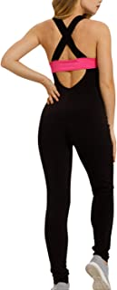 Tight Yoga Jumpsuit Sleeveless Backless Hollow Out Sport Romper Playsuit
