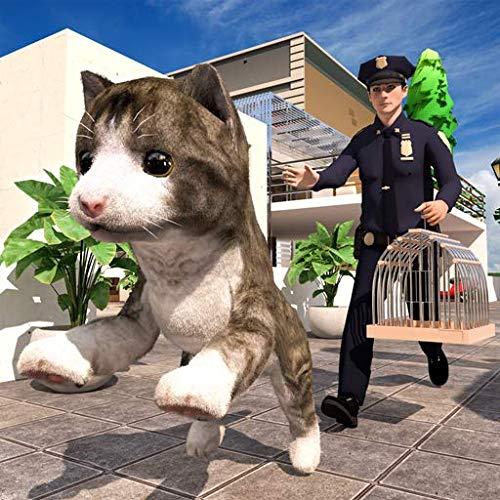 Mein virtueller Haustierkatzen-Simulator: Tierflucht-Haustierrettungskatze Spiele 3D