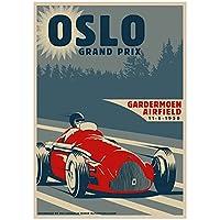 Hbdjns キャンバスポスターウォールアートレーシングカーレトロトラベルポスターとプリントのグランプリ写真家の装飾-50X70Cmx1フレームなし