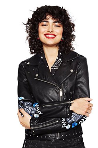 Desigual Naomie Chaq Black Jacke Kunst Lederjacke schwarz Kunstlederjacke (40)