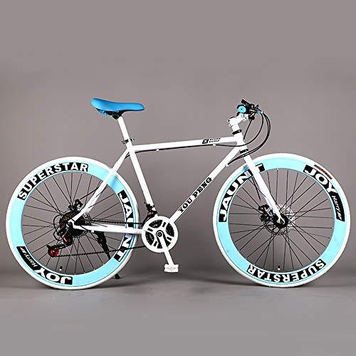 Mountainbike racefiets met vaste snelheid, mannelijke en vrouwelijke dubbele schijfrem, 60 versnellingen, enkelpolige student, volwassen versnellingsbak met 21 versnellingen,605