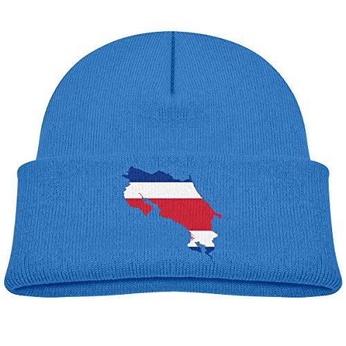 Quintion Robeson Mapa de la Bandera de Costa Rica Niño pequeño Bebés Niñas Niños Gorros Sombrero Gorro de Punto