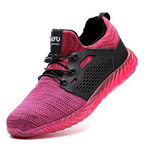 Botas y Zapatos de Seguridad con Puntera de Acero Forradas Impermeables cálido...