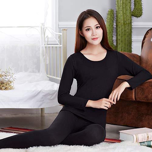 CARDMOE CARDMOE Autumn Winter Woman Thermo-Unterwäsche Set Lady Thermal Inner Wear Sleepwear Size M (Black)
