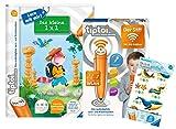 tiptoi Ravensburger Set: libro Das kleine 1 x 1 aprendizaje con Mir! + 00036 – Der Stifter – WiFi Edition + 1 x Create Sticker diferentes selección