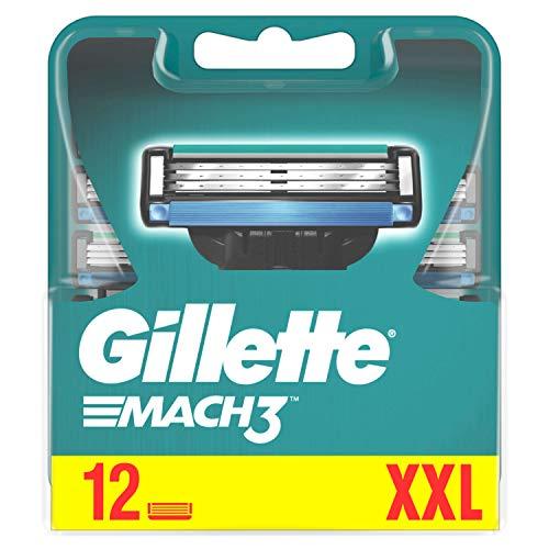 Gillette Mach3 scheermesjes voor mannen, 12 reservemesjes, 60 g