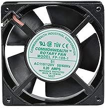 Common Wealth FP-108-1-S1-S/T-R Fan 115 VAC 105 CFM 120 mm x 120 mm x 38 mm Sleeve Bearings Terminal