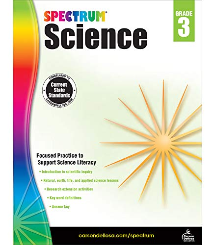Carson Dellosa – Spectrum Science, Focused Practice to Support Science Literacy for 3rd Grade, 144