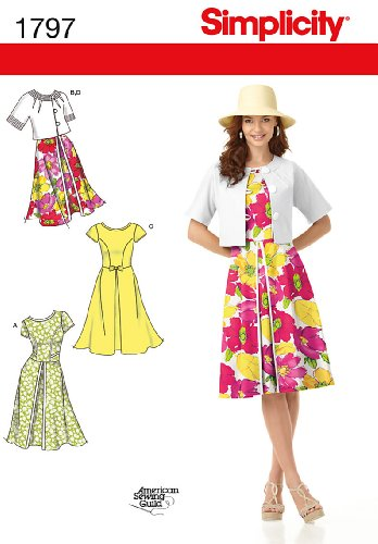 Simplicity American Sewing Guild Pattern 1797 Misses Dress and Jacket Sizes 6-8-10-12-14
