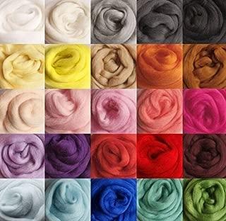 FORSUN DOD-Life 36 Colors Merino Wool Fibre Roving for Needle Felting Hand Spinning BIN,3g/Color, Total 108g