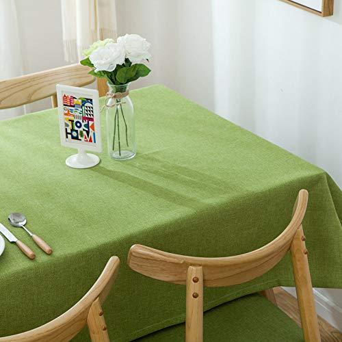 Tovaglia in Cotone e Lino Tinta Unita tovaglia tavolino Rettangolare Tavolo da Pranzo Nuovo Verde 51 * 71 Pollici