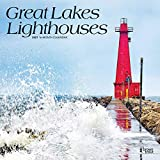 Great Lakes Lighthouses 2021 12 x 12 Inch Monthly Square Wall Calendar, USA United States of America Nature Lake