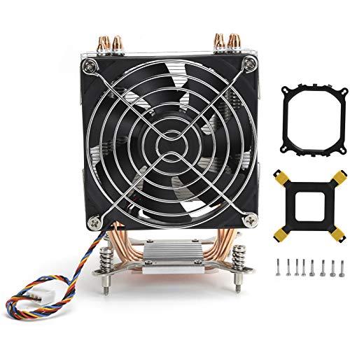 Enfriador de CPU para LGA2011 1366 1150 1151 1155 1156 Suministros de computadora, Ventilador de enfriamiento de 9 cm Ventilador de enfriamiento de CPU con Placa Posterior y Soporte