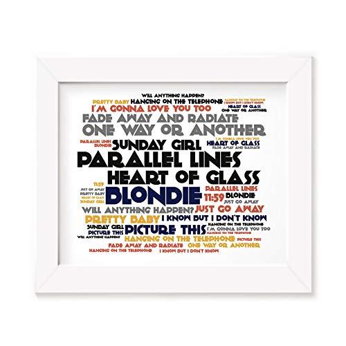 LISSOME Art Studio Blondie Kunstdruck Poster - Parallel Lines - Ungerahmt Kunst Druck Lyrisch Plakat