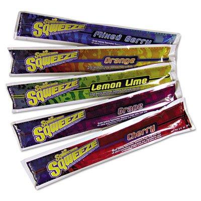 Sqweeze Freeze Pops, Assorted Flavors, 3oz Packets, 150/Carton