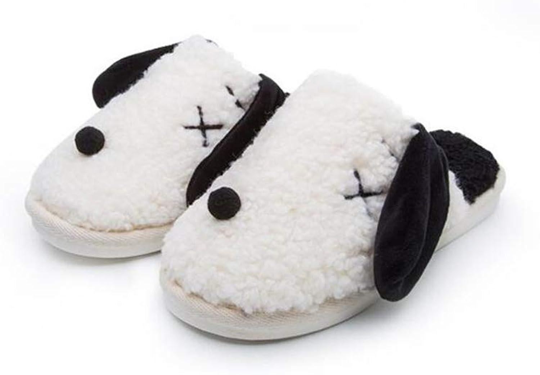Bon Soir Slippers Low Womens Warm Slippers Soft Fleece Plush Home Slippers Anti-Slip Slippers