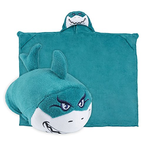 Comfy Critters Stuffed Animal Blanket  Shark  Kids Huggable Pillow and Blanket Perfect for Pretend Play, Travel, nap time.