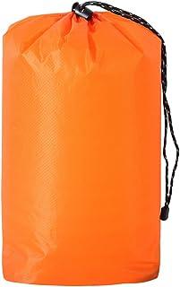 MagiDeal Waterproof Drawstring Storage Bag Outdoor Travel Gear Sports Gym Yoga Bag Laundry Shoe Bag Holder -S M L XL- 3 Colors - Orange, XL