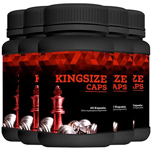 Kingsize Caps   Enlargement Effect   Penis Kapseln extrem Hochdosiert   20 Kapseln   5 Dosen