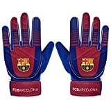 FC Barcelone Gants de gardien de but Cadeau officiel du club, bleu, Boys: 5-10yrs