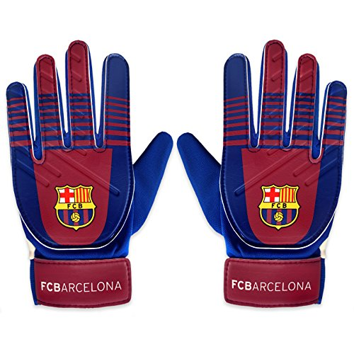 FC Barcelone Gants de gardien de but Cadeau officiel du club, bleu, Boys: 5-10yrs