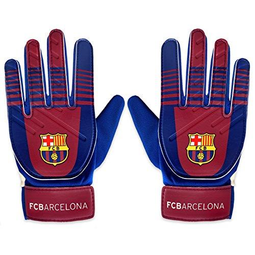 FC Barcelona Official Football Gift Boys Goalkeeper Goalie Gloves