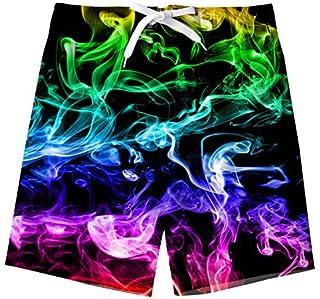 Uideazone Teens Boys Swim Trunks Waterproof Quick Dry Board Short Swimwear for Beach Party Vacation [並行輸入品]
