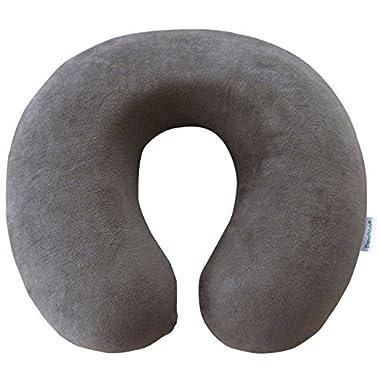 TravelMate Memory Foam Neck Pillow, Grey