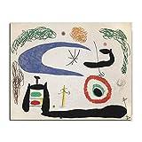 HNZKly Joan Miró Poster Vintage Wand Bilder Leinwandbilder