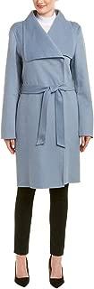 t tahari double face wrap coat