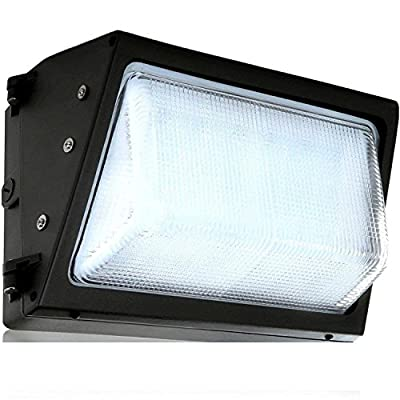 LED Wall-Pack Glass Lens- 40W 60W 5000K Commercial Outdoor Light Fixture (Out-Door Security Porch Lighting for Industrial Out-Side) 120-277V