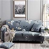 WXQY Funda de sofá elástica Moderna, Utilizada para la Funda de sofá de la Sala de Estar, Funda Protectora de sofá con Todo Incluido, Bien Envuelta, A10 de 3 plazas