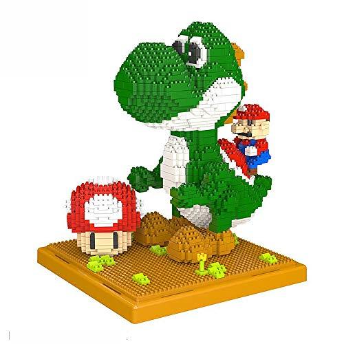 Bausteine Mario,Yoshi & Mushroom Figuren, Architektur Set 2209 Nano Klemmbausteine