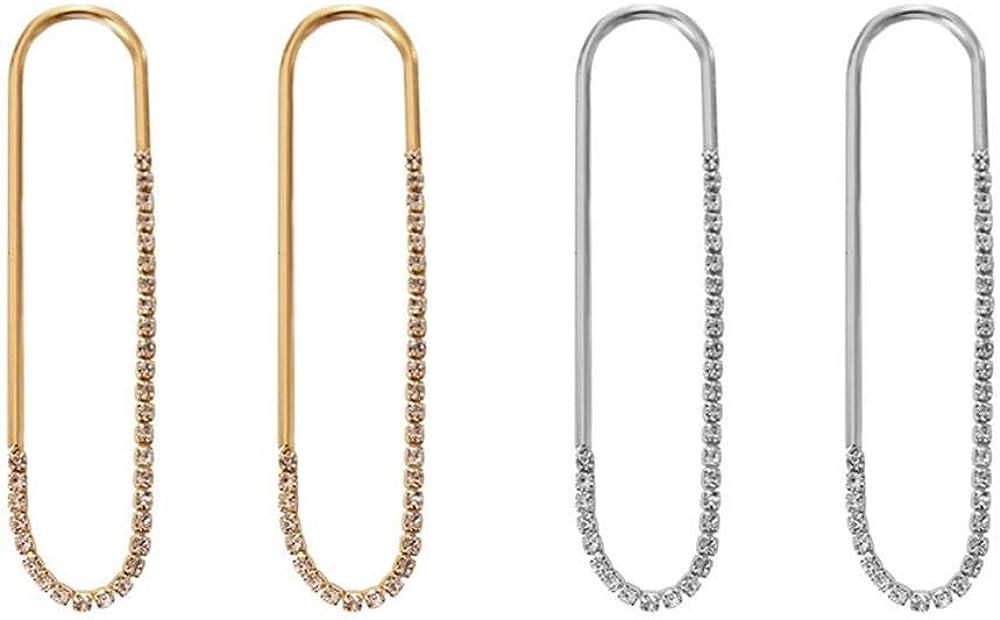 2-3 Pairs Cubic Zirconia Dangle Earrings Crystal CZ Rhinestone Chandelier Statement Dangle Drop Earrings Shiny Teardrop Dangle Earrings Wedding Party Earring Accessroy for Women