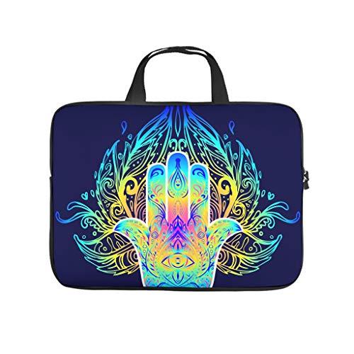 Hamsa Hand Lotus Flower Printed Laptop Case Waterproof Neoprene Laptop Sleeve Bag Funny Tablet Sleeve Case for Women Men