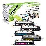 PayForLess Compatible Toner Cartridge 501A 502A 503A 504A (Q6470A Q6471A Q6472A Q6473A) 5PK Replacement for HP Color Laserjet 3600n 3800n 3800dn CP3505 CP3505n CP3505dn