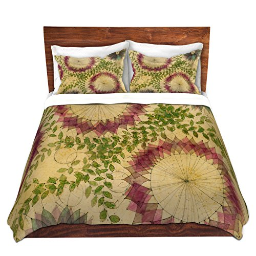 DiaNoche Designs Flower Whispy Cover Brushed Twill Twin, Queen, 8 King Duvet Sham Set