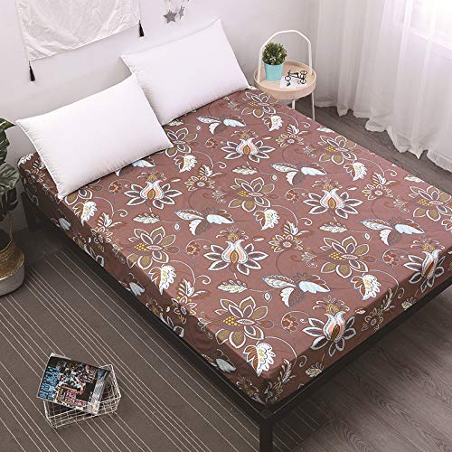 Vintage And Elegant Single Sheet With Elastic Corners, King Size Machine Washable Cover Sheet For All Seasons, Super Soft And Wrinkle-Free Bedding
