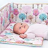 Baby Mädchen Prinzessin Luxus Gitterbett Kinderzimmer Kinder Bettwäsche Fairytale Forest Bettwäsche-Set