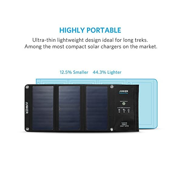 Anker PowerPort Solar (21W 2-Port USB Solar Charger) for iPhone 6/6 Plus, iPad Air 2 / mini 3, Galaxy S6 / S6 Edge and…