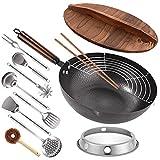 Best electric wok - Carbon Steel Wok, 13 Pcs Wok Pan Review