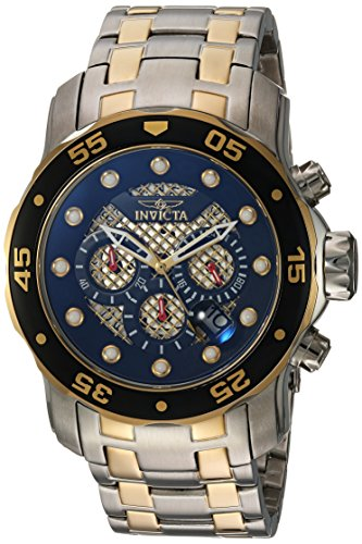Men's Pro Diver Quartz Diving Watch with Stainless-Steel Strap, Two Tone, 18 (Model: ) - Invicta 25333