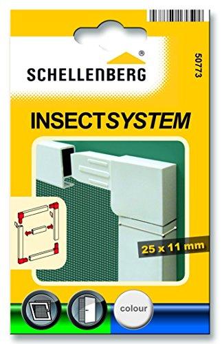 Schellenberg 50773 - Conector de esquina para mosquiteras Eleganza, color blanco
