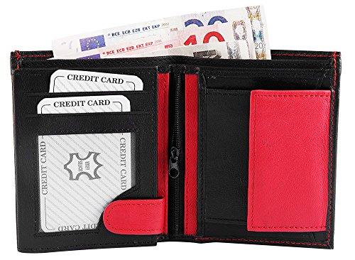 Monopol Herren Geldbörse aus Echtleder. Format 12 x 9 cm