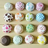 ABLIQUES Baking Muffins Descent and Beautiful Design Greaseproof Microwave or Oven Tray Safe Round Cup Cake Paper Liner (Multicolour) -100 Pieces