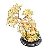 FLAMEER Árbol de la Suerte Decorativo Chino Árbol de la Suerte Citrino Cristal Dinero árbol Feng para Dormitorio Sala de Estar Oficina Bar Tienda - Style a