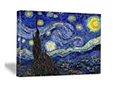 Wieco Art Starry Night Abstract Canvas Prints Wall Art of Van Gogh Famous Artwork Modern Gallery Wrapped Classic Sky Star Pictures Artwork for Living Room Home Office Decorations