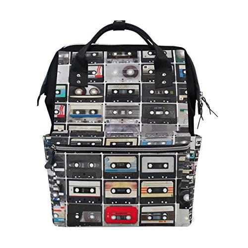 Tizorax Collection de cassettes audio Diaper Sac à dos Grande capacité bébé Sac multifonctions Sacs à couches de voyage Maman Sac à dos pour bébé Care